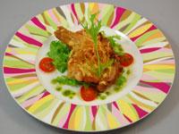 ハーブ鶏のディジョンマスタード焼き