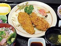 ヒレカツとネギトロ丼定食