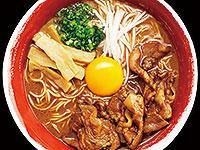 徳島ラーメン肉増し+生卵トッピング